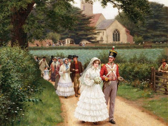 La marche nuptiale par  Edmund Blair Leighton.