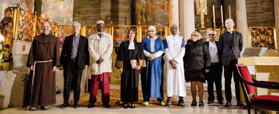 , un bel ensemble œcuménique et interreligieux réuni le 26 octobre à Paris, en l'église du Saint-Esprit, pour célébrer la rencontre entre François et le sultan.